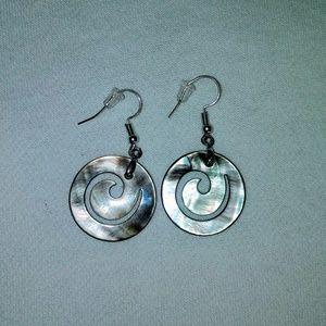 Iridescent Shell Earrings