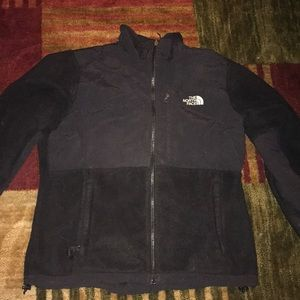 Black north face polartec fleece coat