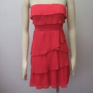 Pins and Needles Pink Strapples Ruffle Dress Small