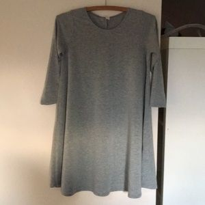 Grey sweater dress 3/4 length sleeves