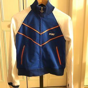 Pony blue and white athletic jacket