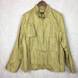 Apt 9 khaki ruffle jacket 2x