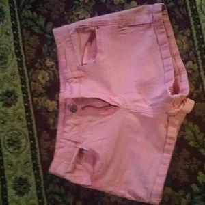 Pink High Waisted Shorts