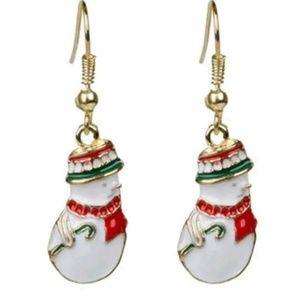 Dangling Snowman Earrings
