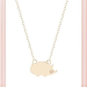 • NEW • gold baby hedgehog necklace