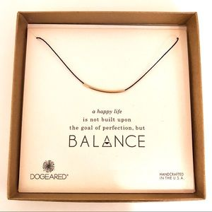 Dogeared Gold Balance necklace
