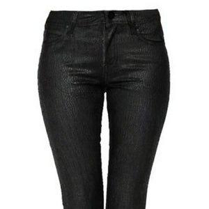 Bebe Snakeskin Hot rock in'Jeans