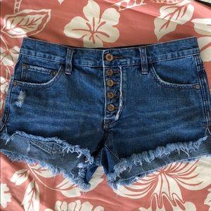Vintage free people jean shorts