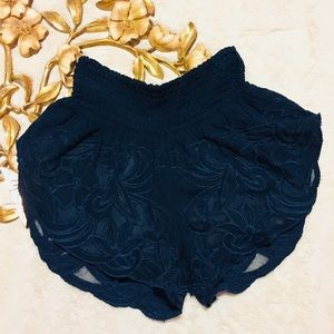 Free People Embroidered Shorts Size XS