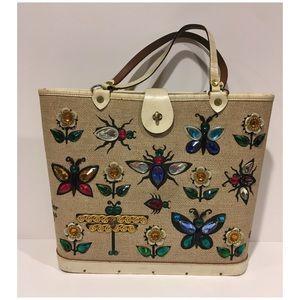 Vintage Enid Collins Glitter Bugs II bucket bag