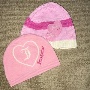Juicy Couture and PINK by VS beanie bundle