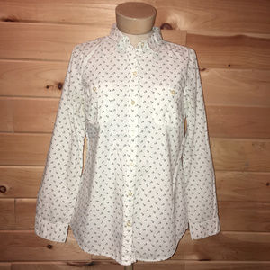 Old Navy Anchor Button Down Long Sleeve Shirt