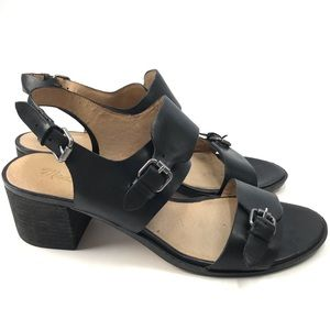 Madewell Mariel Buckle Sandals Black Leather