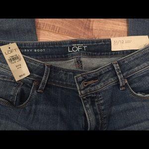 LOFT Ann Taylor boot cut jeans