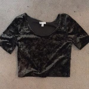Urban outfitters silence and noise velvet crop top