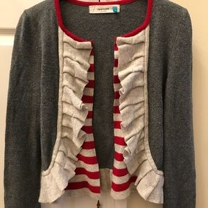 Anthropologie Sparrow Masked Stripes cardigan M