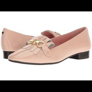 Kate Spade Karen Blush crinkle loafer. NIB