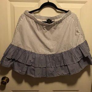 NWT J. Crew Women's Size 10 Double Ruffle Skirt