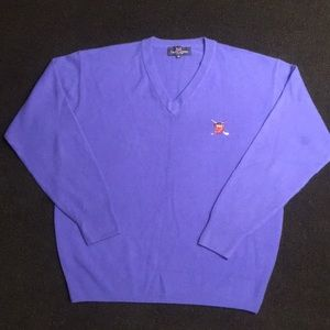 POLO GOLF cashmere sweater! Sz.M  polo golf crest!