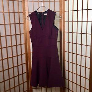 Rebecca Taylor Plum Flare Dress