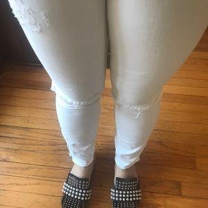 Madewell skinny skinny crop distressed jeans