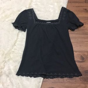 Anthropologie Deletta Embroidered Top