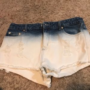 Forever 21 Gradient Jean Shorts