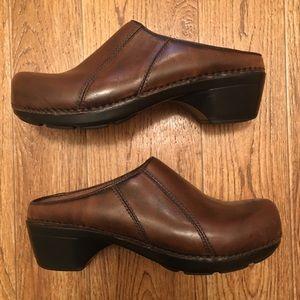[Dansko] Leather Open Back Clog, Size 41