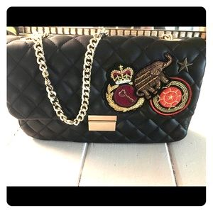 Black Quilted Purse with Cute Embellishments
