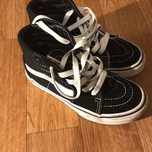 Winter high top Vans sz 13 kids shoes gently used