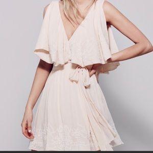 Free people Sylvia wrap around dress