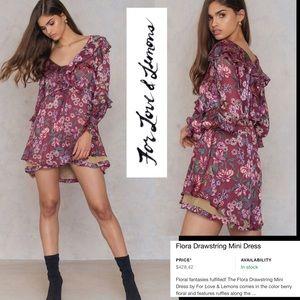 NWT FOR LOVE & LEMONS Flora pink minidress!!!