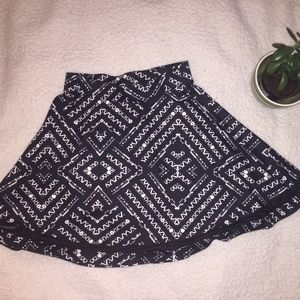 Small Aztec Skater Skirt with Mesh Details