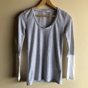 Anthropologie Stateside striped thermal shirt