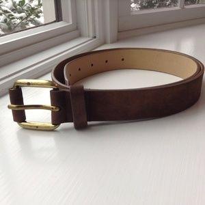Accessories - Faux Suede Brown Belt