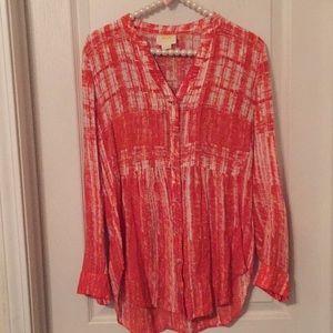 Anthro Maeve blouse Tunic length