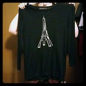 Black Eiffel Tower Sweater.