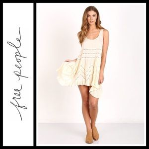 Free People Voile and Lace Trapeze Slip NWT