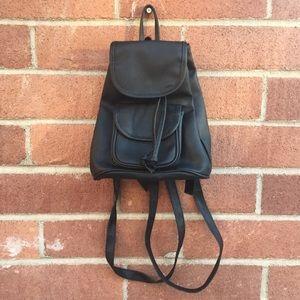 Vintage Pleather Mini Backpack