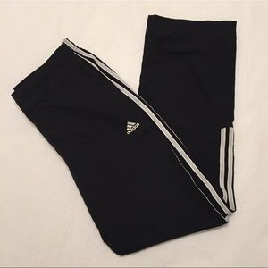 Adidas Black/Silver Track Pants Size Small