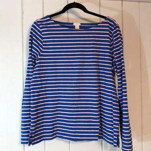 Breton sweat-shirt tunic by JCrew.