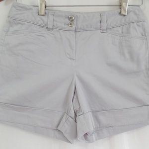 "White House Black Market Gray Shorts 0 5"""