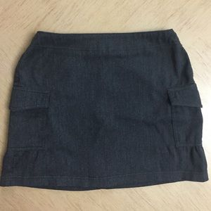 Grey Express Mini Skirt With Pockets
