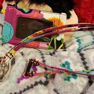 Vera Bradley Accessories - Vera Bradley card, I'D and change holder w lanyard