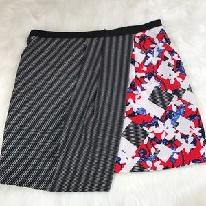 Peter Pilotto for Target Red Floral Check Skirt