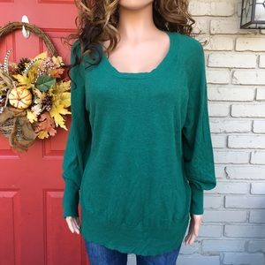 Mossimo Plus size 4 green sweater
