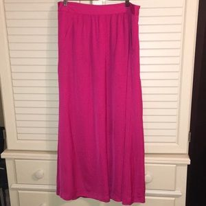 GAP Pink Maxi Skirt With Pockets