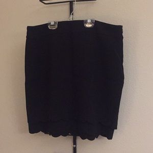 Black scalloped hem skirt from LOFT