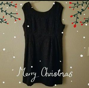 Torrid Lace Print Little Black Dress Sz.18