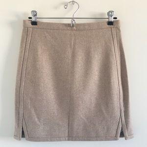 J. Crew Factory Double-Notch Wool Mini Skirt 0